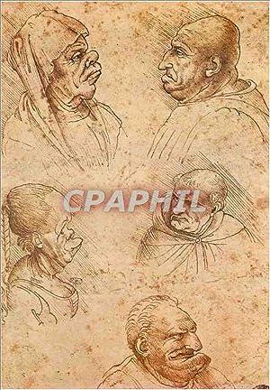 Carte Postale Moderne Leonardo Cinque teste grottesche