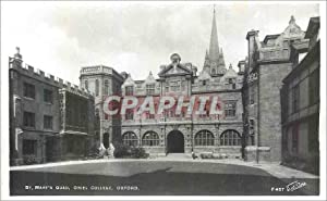 Carte Postale Moderne Oxford St Mary's Quad Oriel College
