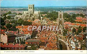 Carte Postale Moderne St Johns Church and St Gîles Street Norwich