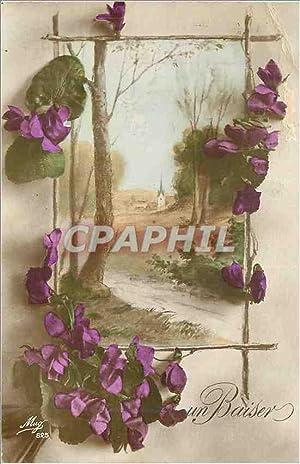 Carte Postale Ancienne Un Baiser