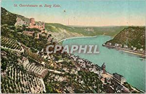 Carte Postale Ancienne St Goarshausen m Burg Katz