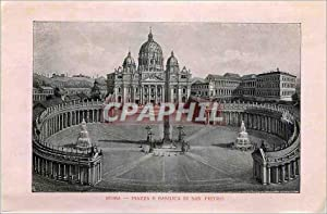 Carte Postale Ancienne Roma Piazza e Basilica