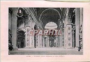 Carte Postale Ancienne Roma Interno Della Basilica