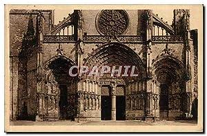 Bazas Carte Postale Ancienne Portique et fronton