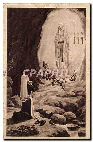 Lourdes Carte Postale Ancienne Une apparition de