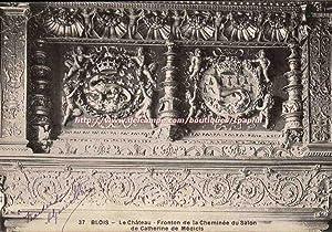Blois Carte Postale Ancienne Le château Fronton