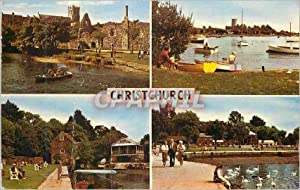 Carte Postale Moderne Christchurch The Priory The River at Wick The Old Mill The Quay