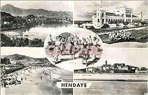 Carte Postale Moderne Hendaye Frontiere Franco Espagnole
