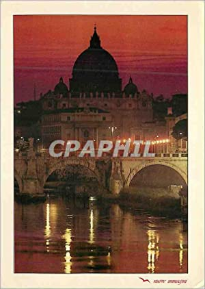 Carte Postale Moderne Roma San Pietro (Notturno)