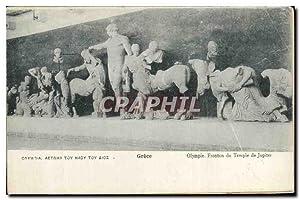 Greece Carte Postale Ancienne Olymoue Fronton du