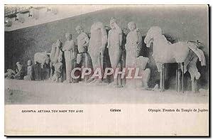 Grece Greece Carte Postale Ancienne Olympie Fronton