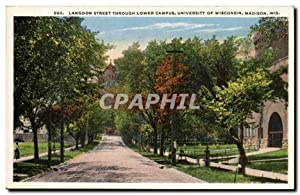 Etas Unis - United States - USA - Madison Wisconsin - Langoon Street Through lower campus of Univ...
