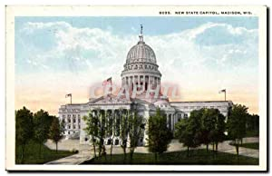 Etas Unis - United States - USA - Madison Wisconsin - New State Capitol - Carte Postale Ancienne