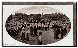 Grande Bretagne Great BRitain Carte Postale Ancienne On the Jetty Gt Yarmouth