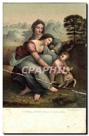 Carte Postale Ancienne La vierge l'enfant Jesus