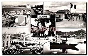 Hendaye Carte Postale Moderne La plage Pont