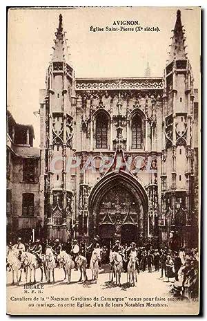 6f6481f7caa7 Carte Postale Ancienne Avignon Eglise Saint Pierre