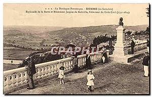 Carte Postale Ancienne Domme Esplanade de la