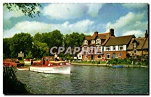 United Kingdom - England - Angleterre - Norfolk - Swan Inn and River Bure - Carte Postale Ancienne