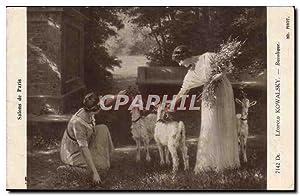 Carte Postale Ancienne Fantaisie Salons de Paris