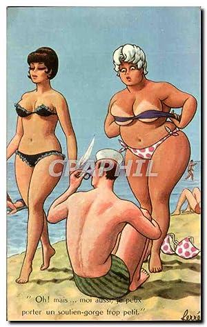 Carte Postale Ancienne Fantaisie Illustrateur Humour Femme