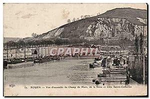 Carte Postale Ancienne Rouen vue d'ensemble du