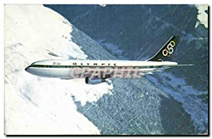 Carte Postale Semi Moderne Avion Aviation Olympic Airbus A300
