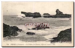 Carte Postale Ancienne Primel (Finistere La Pointe