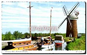 Carte Postale Ancienne Horsey Mill Norfolk Broads Moulin windmill