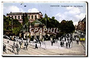 Carte Postale Ancienne Hannover Georgstrasse mit Cafe Kropcke