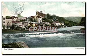 Carte Postale Ancienne Bad Kosen Gradirwerk