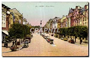 Carte Postale Ancienne Reims Place d'Erlon