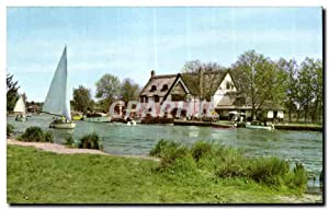 Carte Postale Ancienne The river bure at Horning Ferry Norfolk Broads