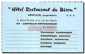 Carte De Visite Htel Restaurant Du Beach