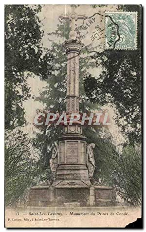 Carte Postale Ancienne Saint leu taverny monument