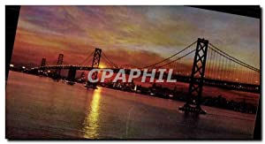 Carte Postale Ancienne Sunset San Francisco Bay