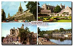 Carte Postale Ancienne The High Christ Church Balliol College River Isis
