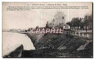 Carte Postale Ancienne Joigny Faubourg de Paris