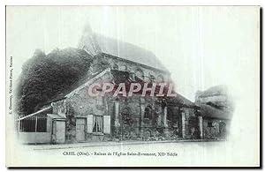 Carte Postale Ancienne Creil Ruines de l'Eglise