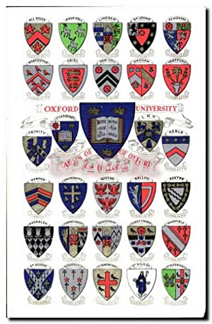 Carte Postale Ancienne ARmos of Oxford Heraldry Armoirie