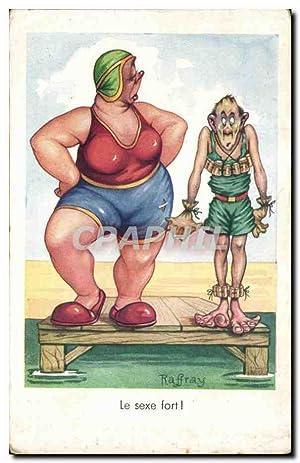Carte Postale Ancienne Le Sexe Fort Humour