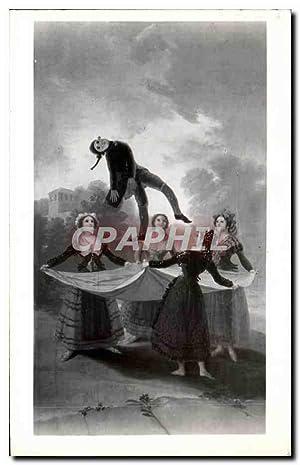 Carte Postale Ancienne Goya El pelele Museo