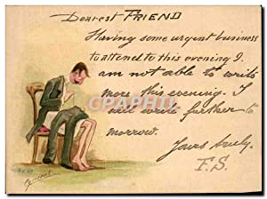 Carte Postale Ancienne Dearest friend Humour