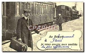 Carte Postale Ancienne Au Depart de Paris