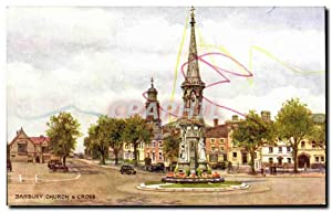 Carte Postale Ancienne Banbury Church Cross