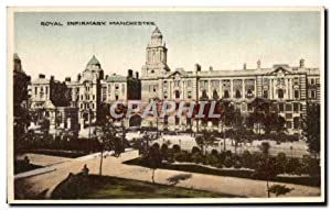 Carte Postale Ancienne Royal Infirmary Manchester