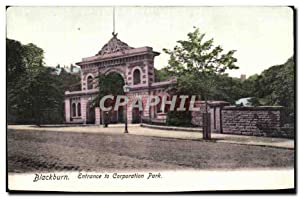 Carte Postale Ancienne Blackburn Entrance to Corporation park
