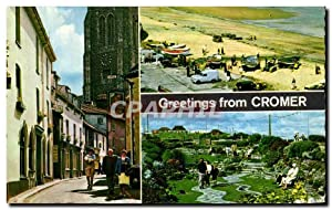 Carte Postale Ancienne Greetings From Cromer
