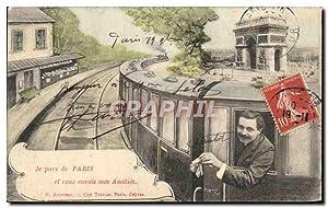 Carte Postale Ancienne Paris Train Je vous