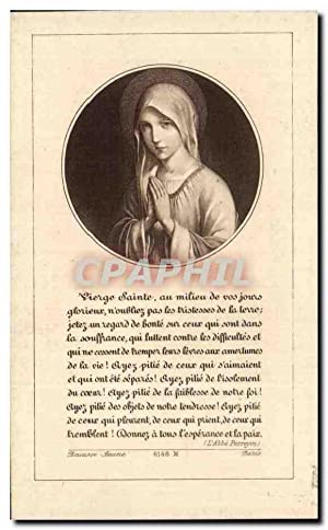 Image pieuse Vierge Sainte